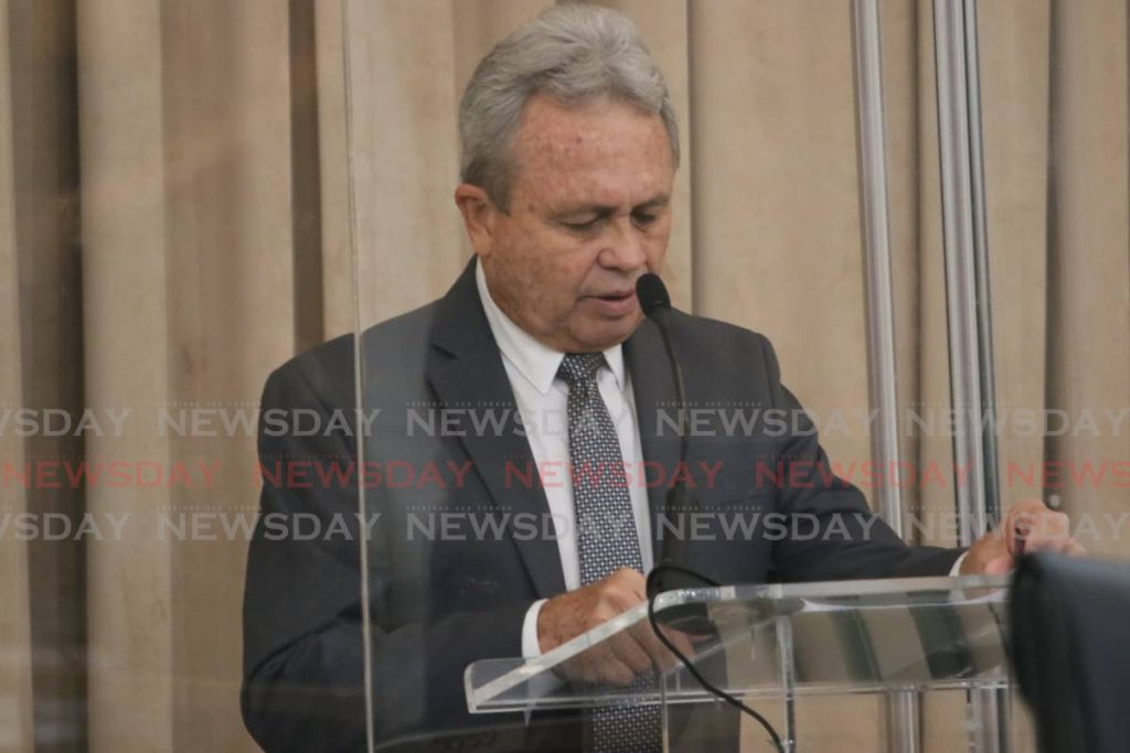 Finance Minister Colm Imbert. Photo courtesy Office of the Parliament -