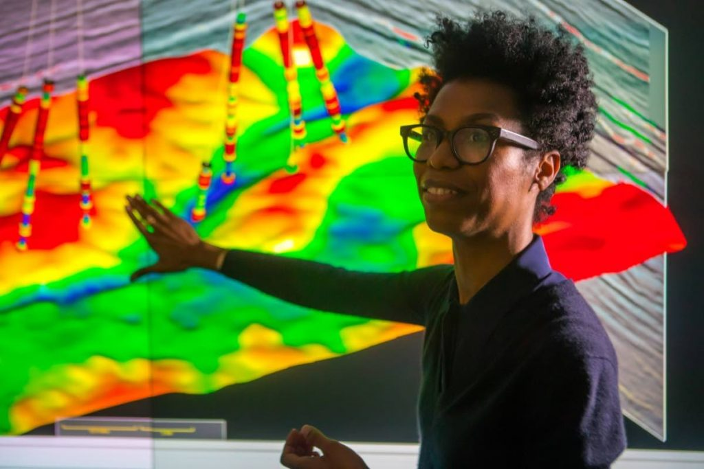 Chevron senior technical geoscientist Rhonika Kaplan says her job satisfies her passion for both technology and geology. -