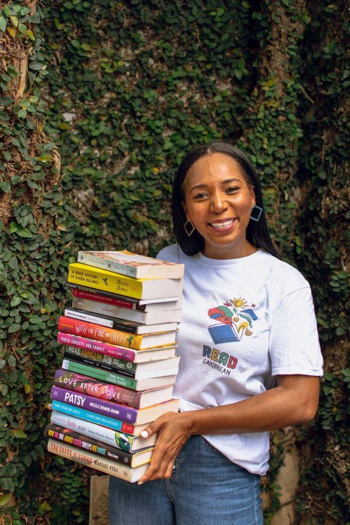 Bookstagrammer Cindy Allman aka @bookofcinz was featured by O Magazine in 2020 on her brainchild ReadCaribbean  Photo by Gabrielle Garcia  -