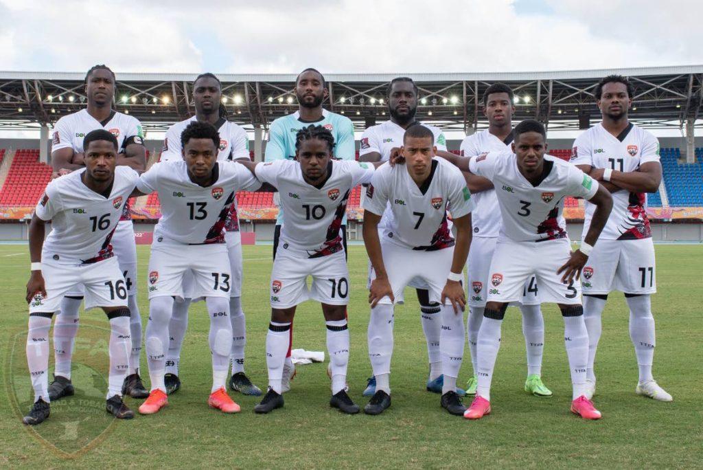 Members of the TT football team ahead of their 2022 FIFA World Cup Concacaf Zone Group F qualifier against Bahamas on Saturday at the Thomas Robinson Stadium, Nassau, Bahamas. PHOTO COURTESY TT FOOTBALL ASSOCIATION. -