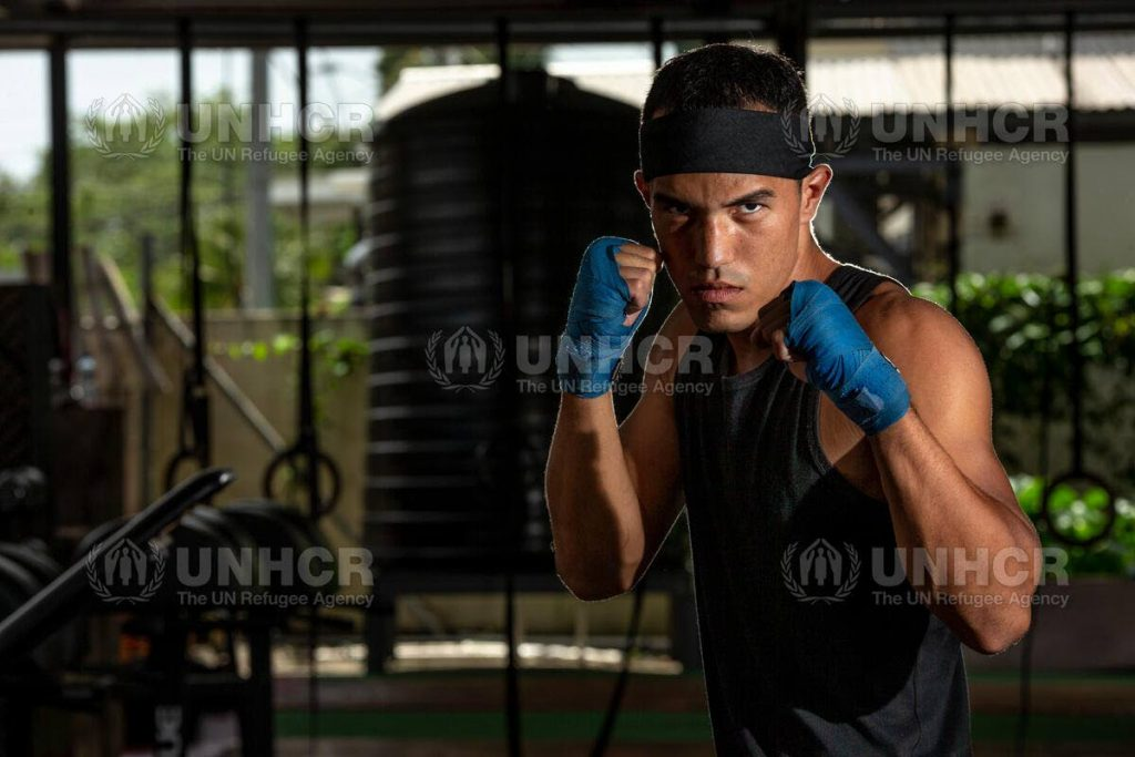 Venezuelan boxer Eldric Sella has qualified for the Olympics as part of the UN refugee team. - UNHCR