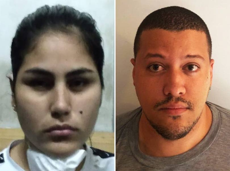 CHARGED: Venezuelan nationals Nohemy Del Rosario Valasquez, left, and Pedro David Hernandez Patete who have been charged after police investigations into human trafficking. PHOTOS COURTESY TTPS -