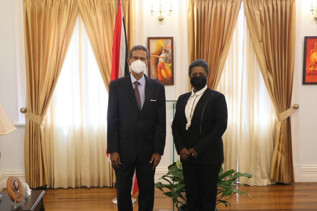 NEW OMBUDSMAN: Attorney Rajmanlal Joseph was on Wednesday appointed the new Ombudsman by President Paula-Mae Weekes. Witnessing his taking of the oath was House Speaker Brigid Annisette-George. - Office of the Parliament