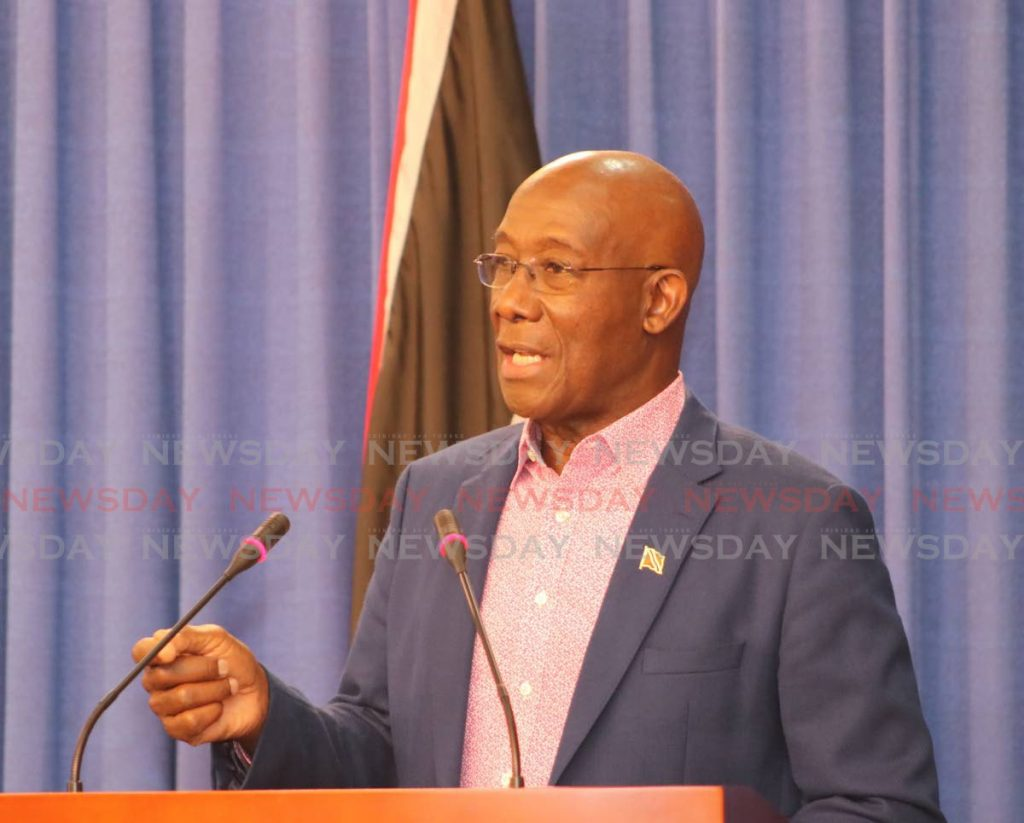 Prime Minister Dr Rowley. Photo courtesy OPM - Photo courtesy OPM