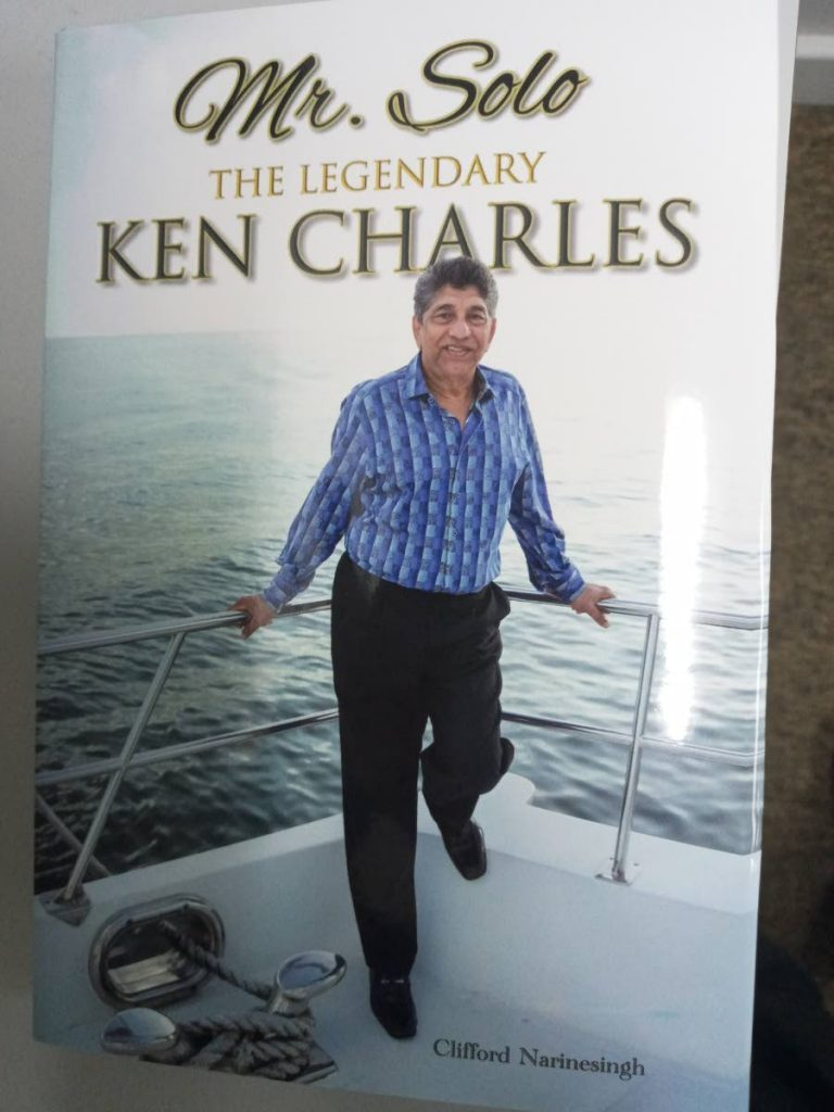 The cover of Clifford Narinesingh's latest book Mr Solo the Legendary Ken Charles.  -