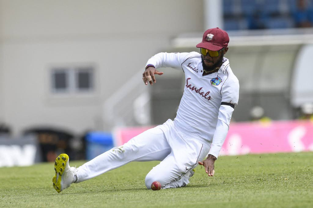 Kraigg Brathwaite of West Indies fields during day 1 of the 2nd Test between South Africa and West Indies at Darren Sammy Cricket Ground, Gros Islet, Saint Lucia, on Friday. - (AFPO PHOTO)