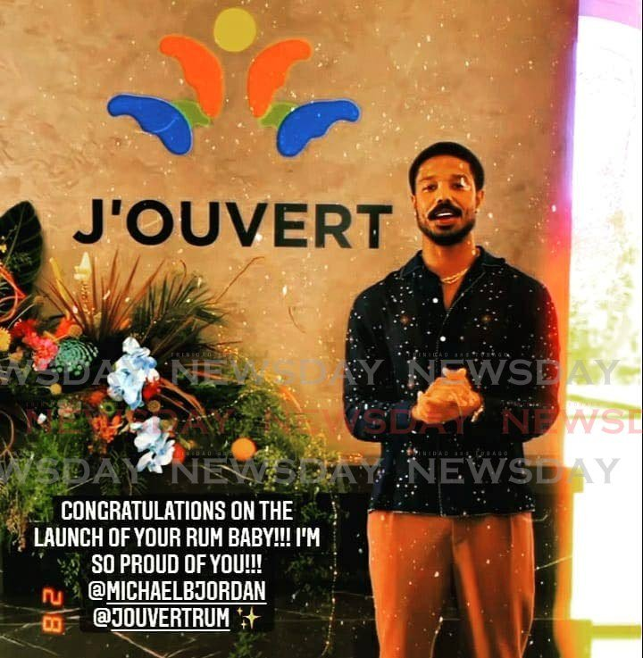 Screengrab of an Instagram video posted by American actor Michael B Jordan's as he launched his J'Ouvert rum. -