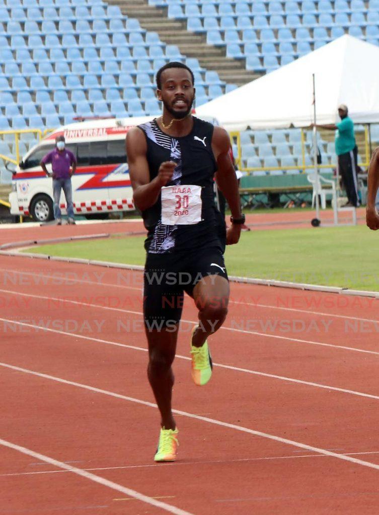 Jonathan Farinha during the NAAA Olympics trials at the Hasely Crawford Stadium, Mucurapo on Monday. PHOTO BY SUREASH CHOLAI. - SUREASH CHOLAI