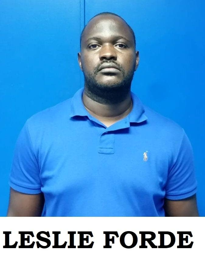 Leslie Forde, a Lance Corporal for the TT Regiment was arrested and charged for the theft of right gates on Monday.  He is expected to return to court on August 20. Photo courtesy TTPS