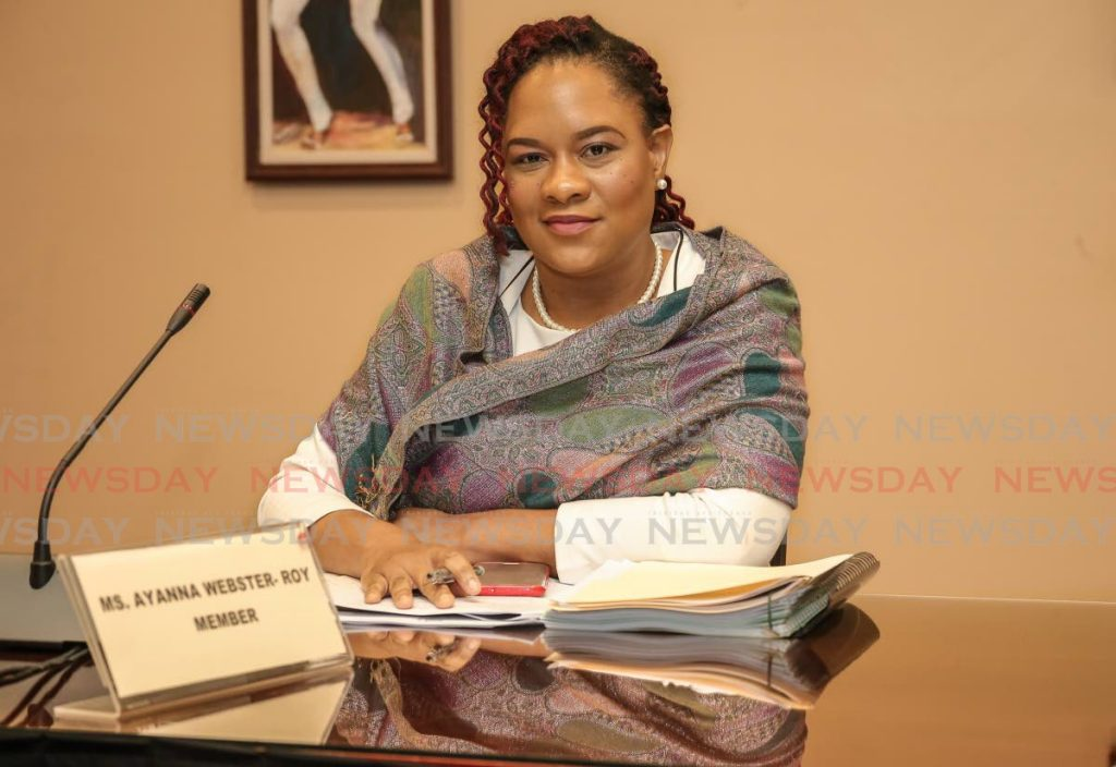 Minister in the Office of the Prime Minister Ayanna Webster-Roy. -