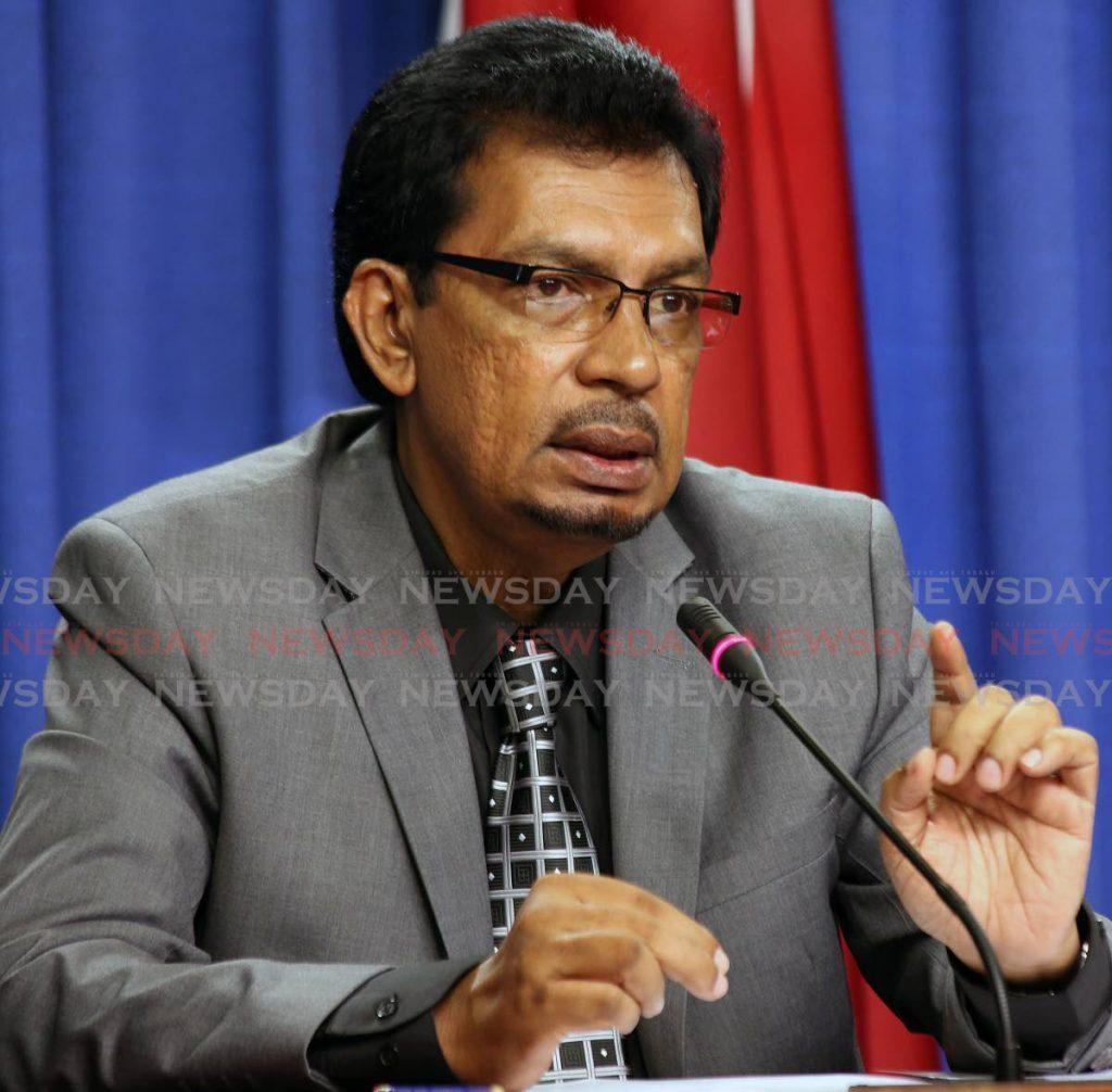 Minister of Rural Development Kazim Hosein -