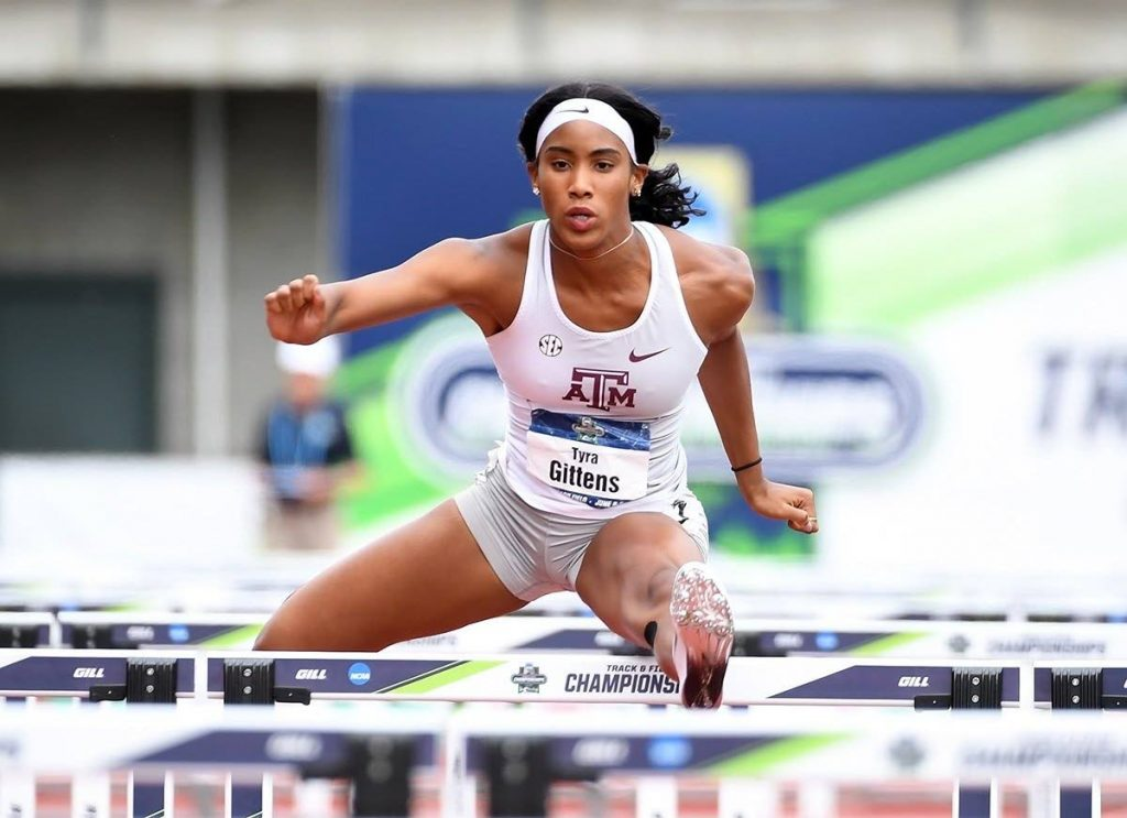 US-based TT track and field athlete Tyra Gittens is currently ranked third in the world in the hepthalon. - Photo via Texas A&M University