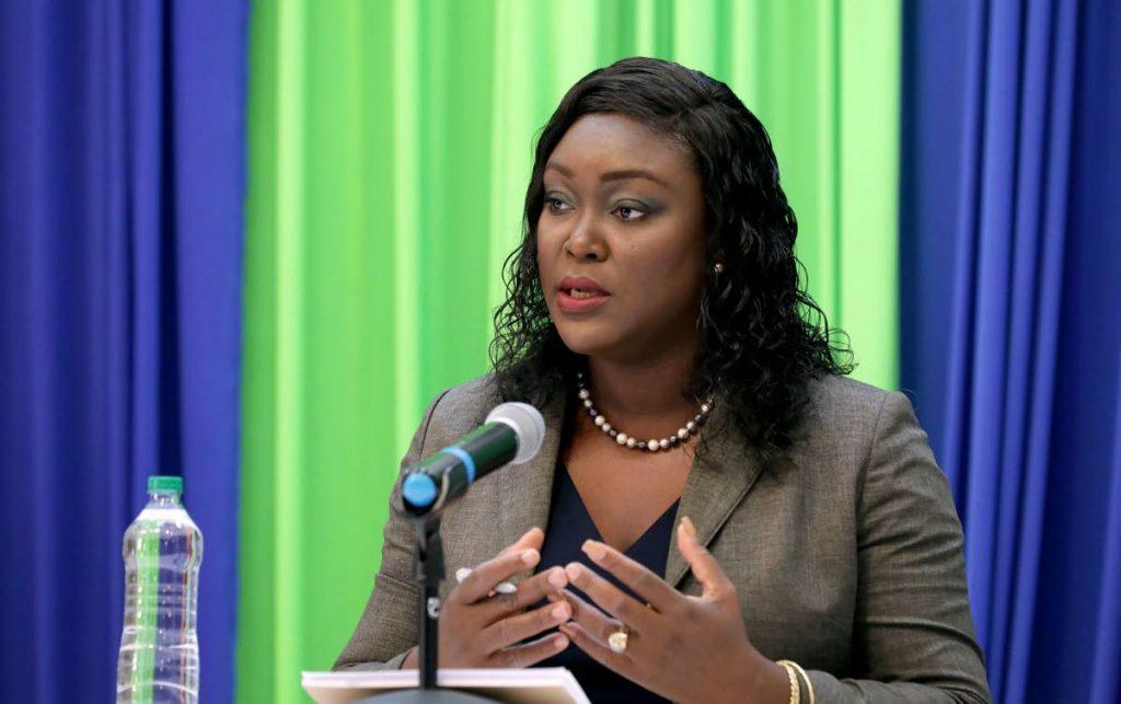 Secretary of Health Tracy Davidson-Celestine.