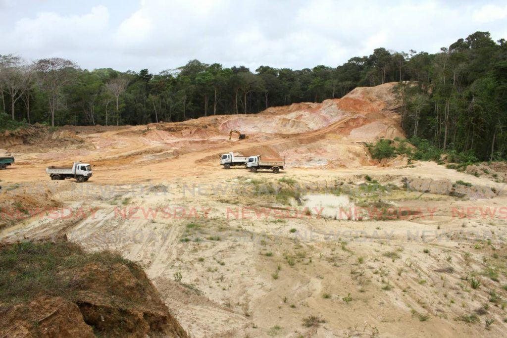 An overhead view of a quarry at Las Lomas #1. - Angelo M. Marcelle