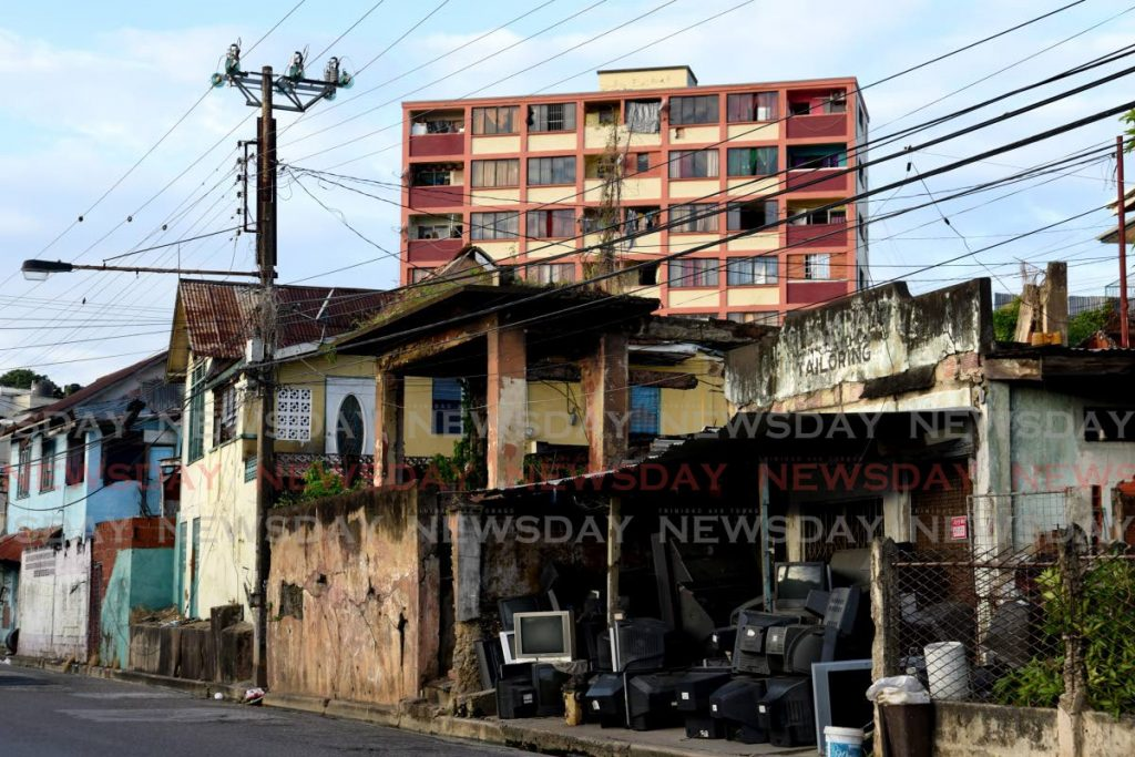 Houses along Piccadilly Street where plans are being made by the Government to revive Port of Spain. File photo/Ayanna Kinsale -
