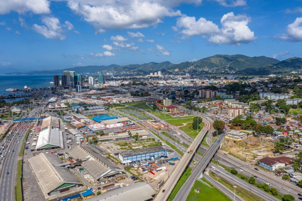 Aerial shot of East Port of Spain. Photo by Jeff K Mayers