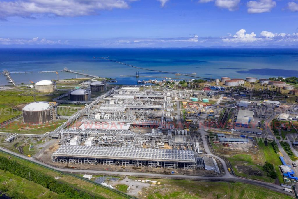 A view of the Atlantic LNG site in Point Fortin. -