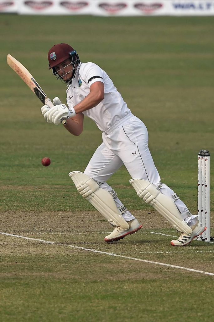 In this Feb 12, 2021 file photo, West Indies'  Joshua Da Silva plays a shot during the second day of the second Test against Bangladesh at the Sher-e-Bangla National Cricket Stadium in Dhaka. -