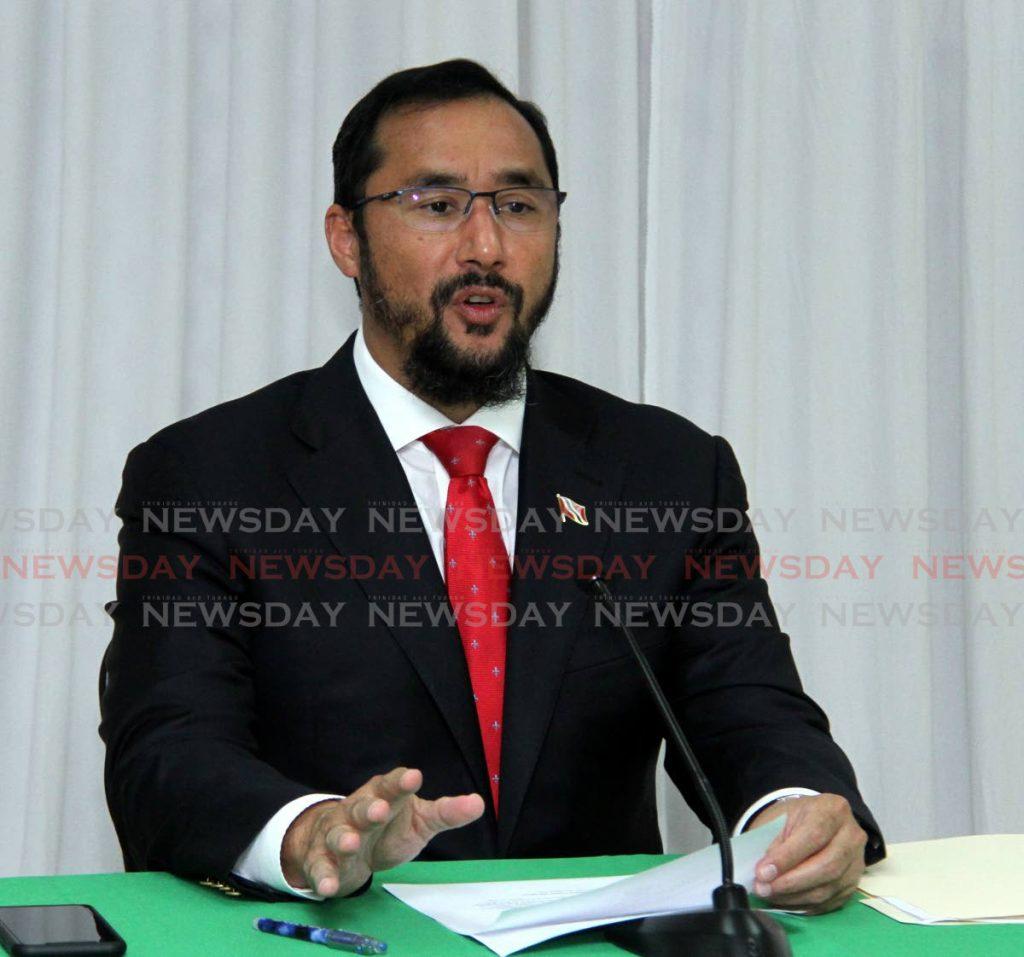 Energy Minister Stuart Young. File photo -