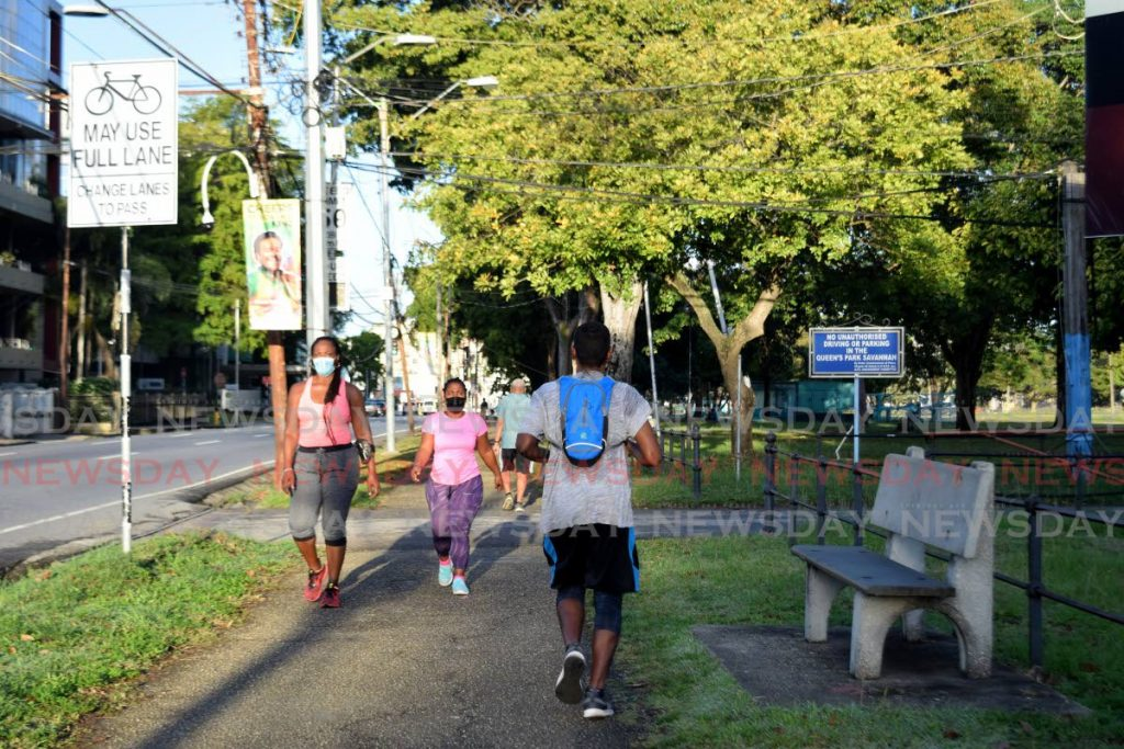 On Monday, the public is permitted to exercise outdoors in groups of five and under according to Prime Minister Dr Keith Rowley, during a press briefing, on Saturday.  - Vidya Thurab