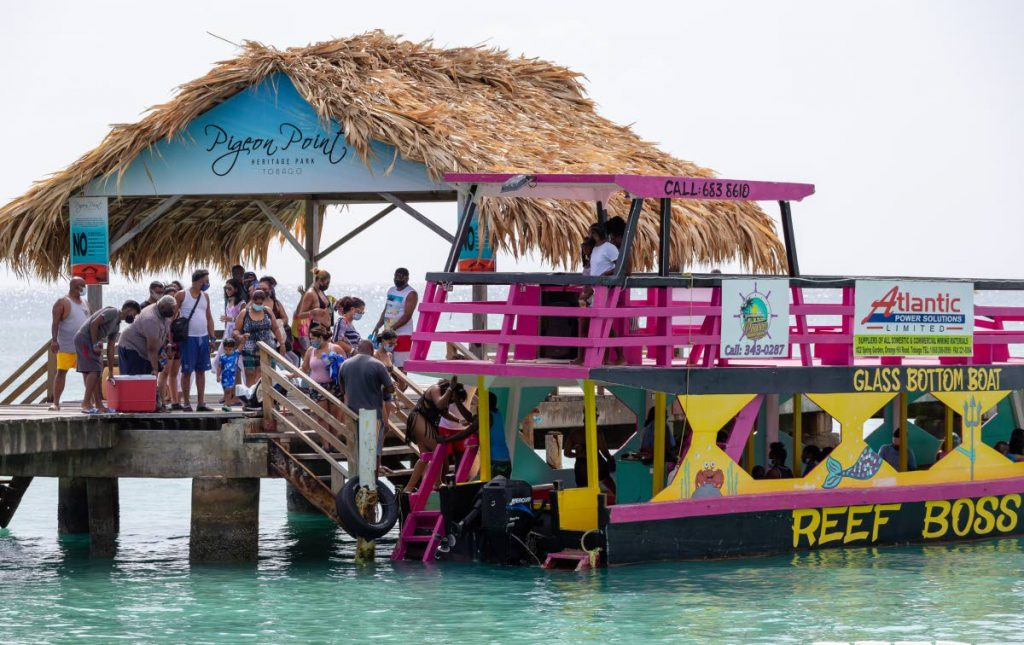 FILE PHOTO: Reef boat owners take scores of Trinidadians for a tour during the Easter Weekend earlier this year.