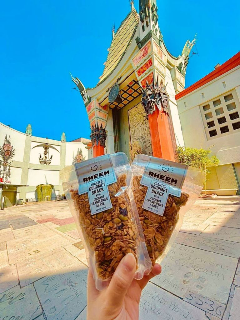 This month, Rheem Gourmet Granola was added to the concessions of the TCL Chinese Theatre in Hollywood, Los Angeles. Every year, the theatre welcomes an estimated four million visitors, and it was designated a historic cultural site in LA in 1968.  - Photo courtesy Steven M Taylor