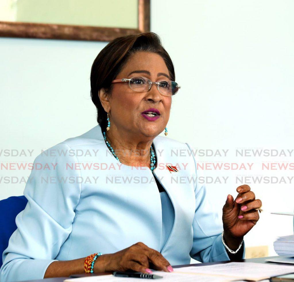 Opposition Leader Kamla Persad-Bissessar.  Photo by Sureash Cholai