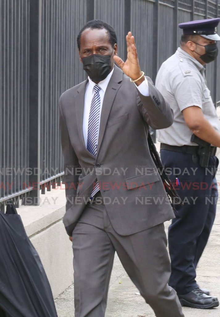 National Security Minister Fitzgerald Hinds arriving for parliament.  Photo by Sureash Cholai