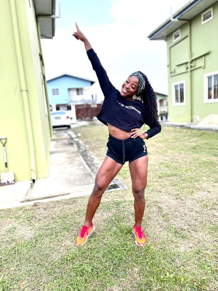 Former national athlete and First Lady Fit and Wellness founder Jessica James switched to fitness coaching in 2018. James started off with two people saw her clientèle grow to 500. - courtesy jamzphotography868.