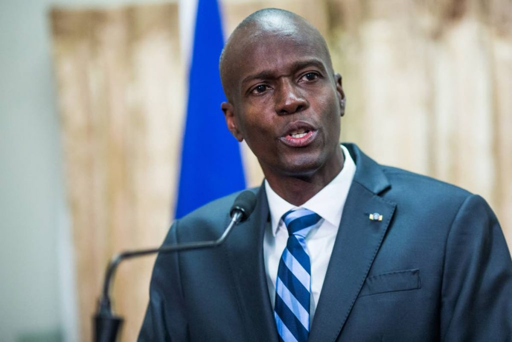 GUNNED DOWN: Haiti's President Jovenel Moise who was assassinated in his home on Wednesay morning. AFP PHOTO/ PIERRE MICHEL JEAN