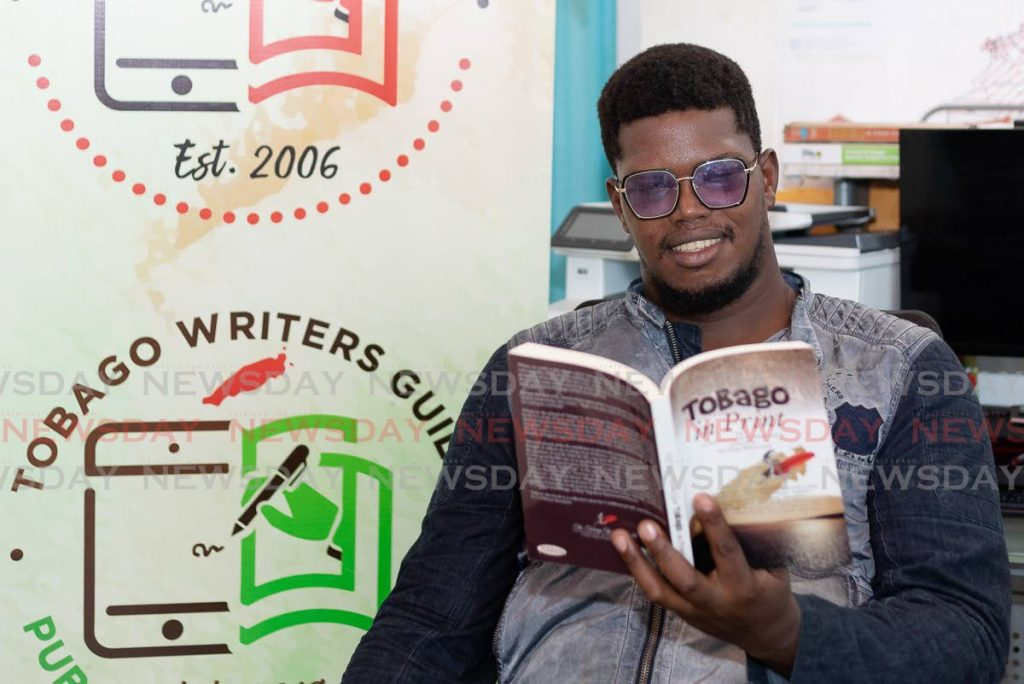 Leroy George, public relations office of the Tobago Writers Guild. - David Reid