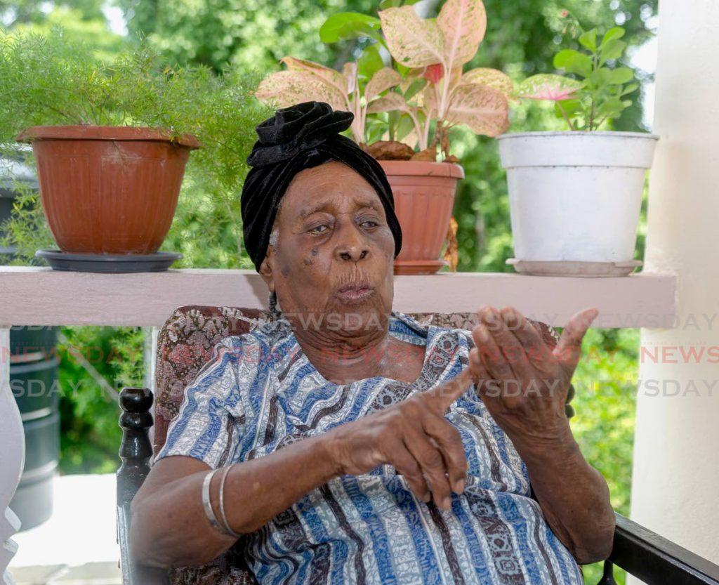 Bernice Skeete talks about growing up in Tobago and reaching 100. - Photo by David Reid