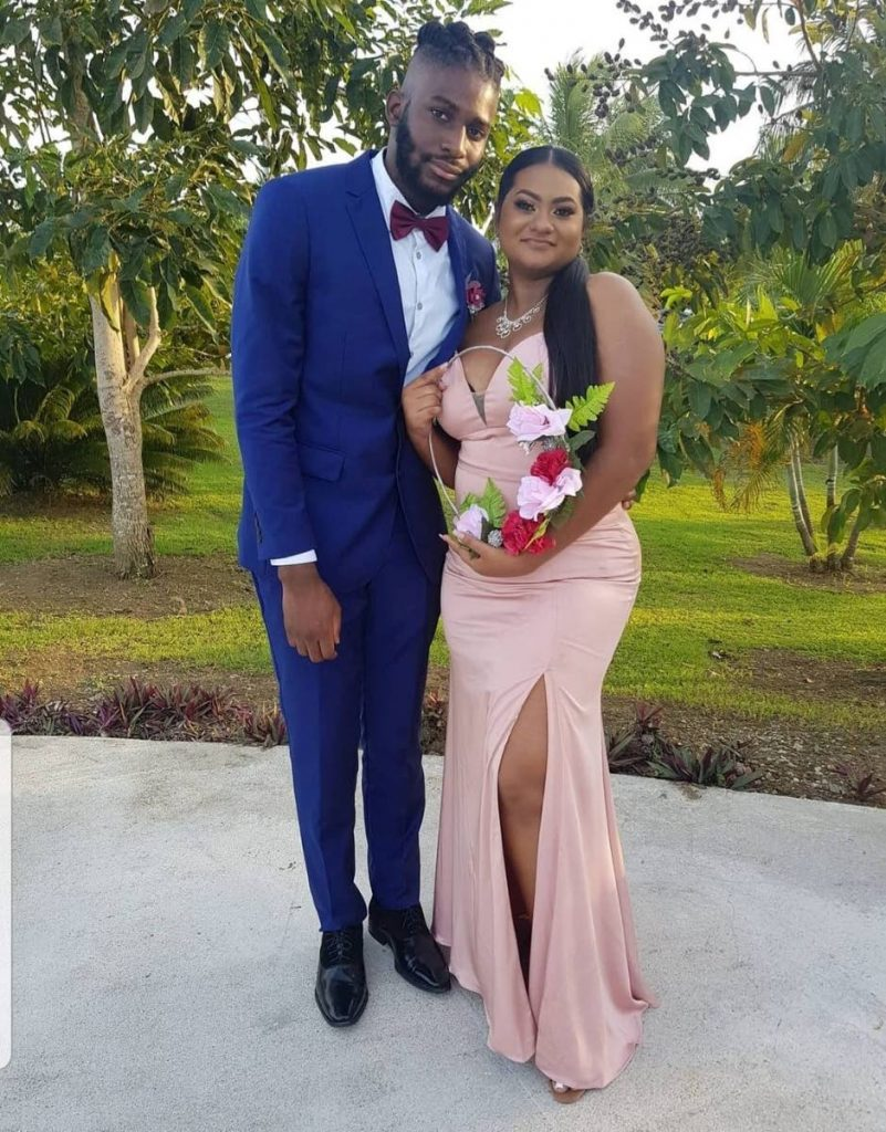 Andre Ross and his girlfriend, Reane.  -