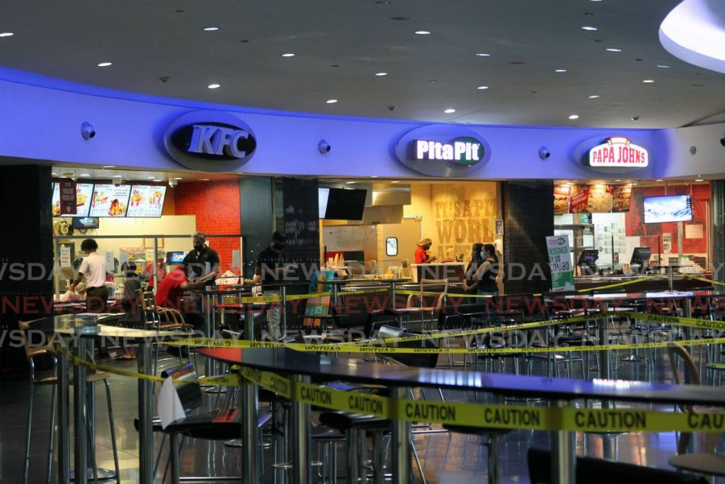 Slow food sales reported at the fast food outlets at Gulf City Mall, San Fernando - Photo by Lincoln Holder