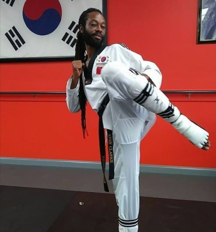 Taekwondo master Julius Erving Wolfgang Anderson Clarke. The title was the culmination of a journey of more than three decades that began with a dojo  in Trinidad.