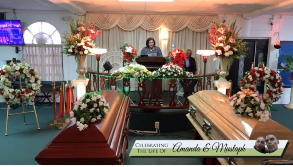 Family friend Camille delivers the eulogy at the funeral of Amanda and Mustaph Mohammed. -