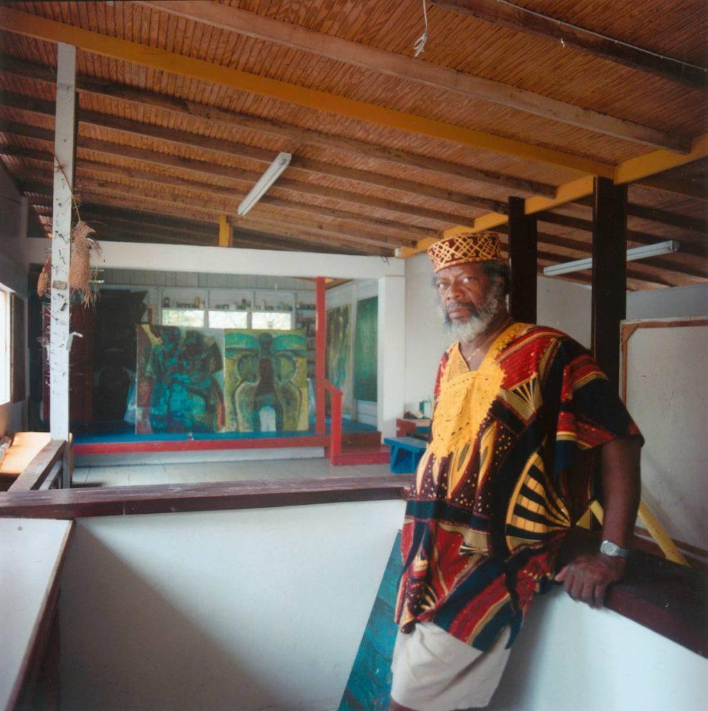 Leroy Clarke at his El Tucuche home in 2001. PHOTO BY Mark Lyndersay -