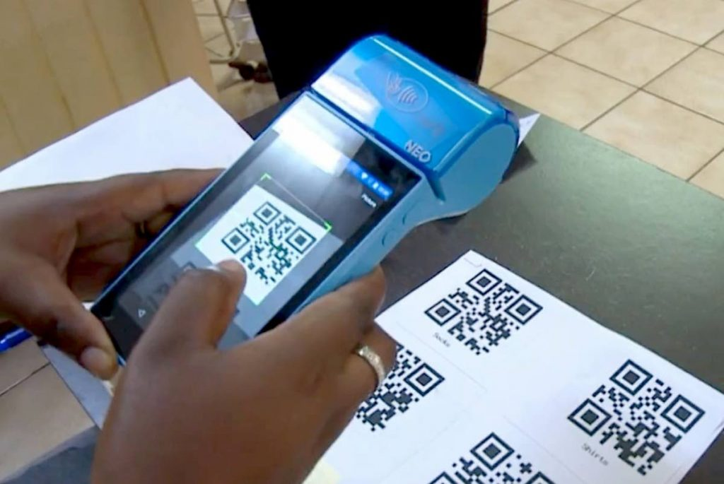 Wipay terminals in use in Grenada. Source: Grenada government Facebook page.