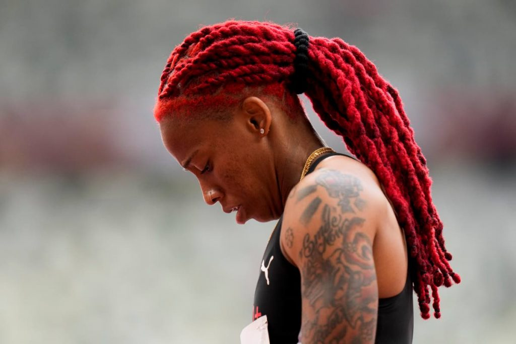 Trinidad and Tobago sprinter Michelle-Lee Ahye wins a heat in the women's 100-metre run at the 2020 Summer Olympics, on Friday, in Tokyo. (AP PHOTO) -
