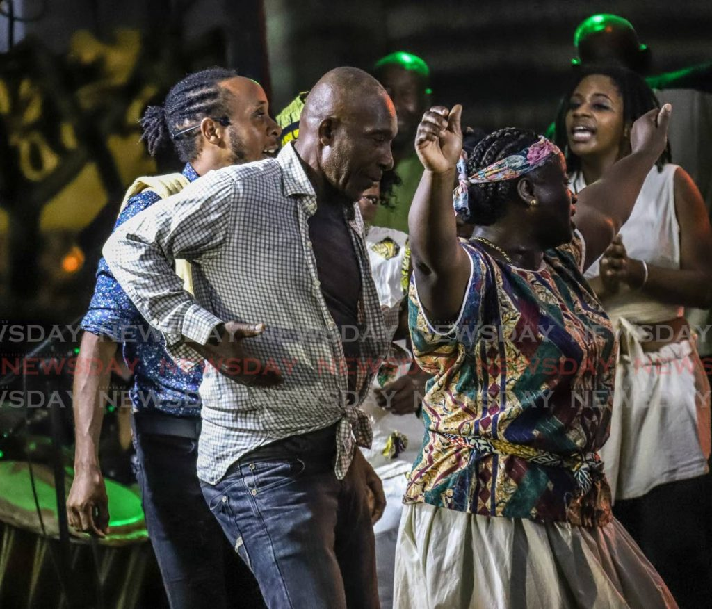 FILE PHOTO: A scene from Canaan/Bon Accord/Crown Point's presentation of Wake and Bongo at the Tobago Heritage Festival in 2019. -