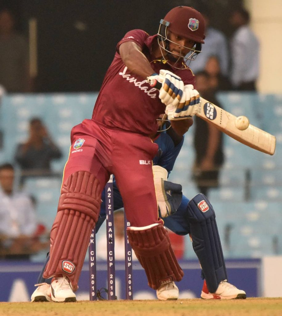 FILE PHOTO: West Indies batsman Nicholas Pooran hits a six during a previous series. PHOTO COURTESY CRICKET WEST INDIES. -