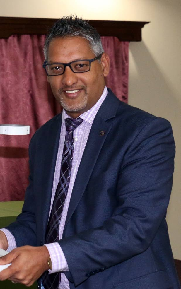 Agriculture Minister Clarence Rambharat. -