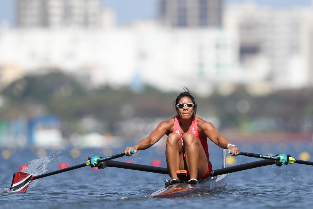 In this August 2016 file photo, team TTO's Alicia Chow (during the race) finished 5th in Heat 6 of the Women's Rowing- Single Sculls in a time of 8:31.83 minutes during the Rio 2016 Olympic Games at the Lagoa Stadium, Rio de Janeiro. Photo: Allan V. Crane/CA-images
