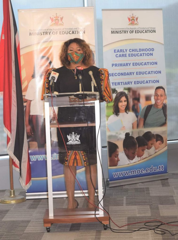 Minister of Education Dr Nyan Gadsby-Dolly - Photo courtesy the Ministry of Education's Facebook page