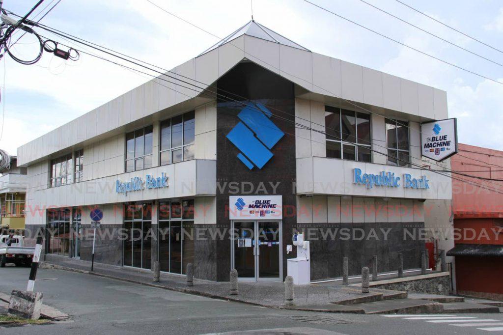 FILE PHOTO: Republic Bank's Burnett Street, Scarborough, Tobago, branch. -