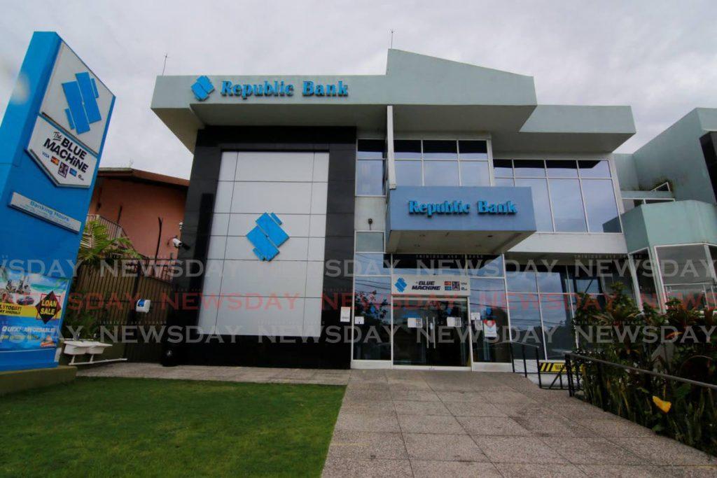 Republic Bank's Rio Claro branch. File photo.