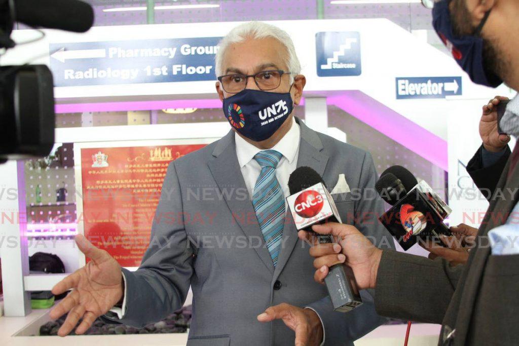 Health Minister Terrence Deyalsingh -