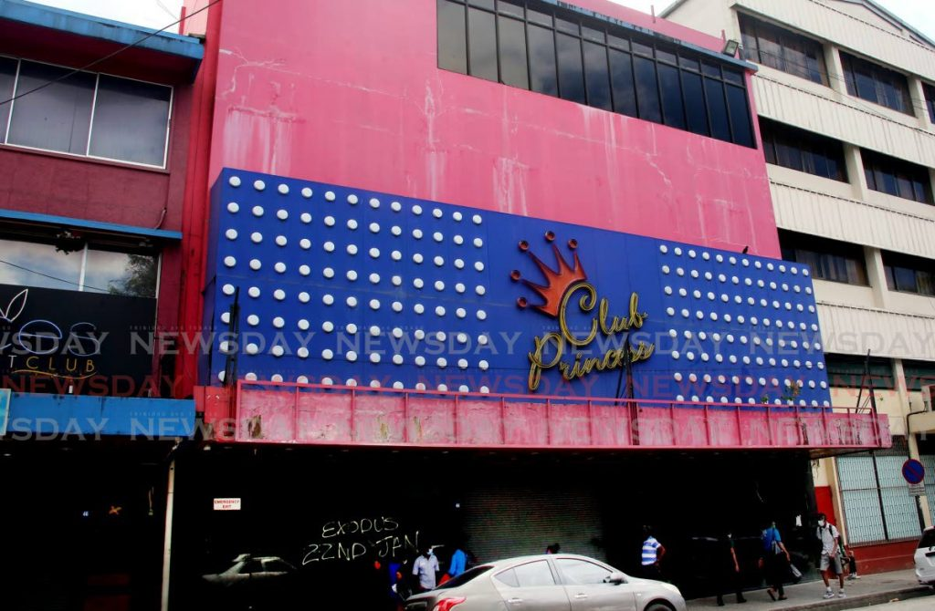 Club Princess members club at Independence Square, Port of Spain among the gaming establishments which remain closed owing to covid19 restrictions.  - SUREASH CHOLAI