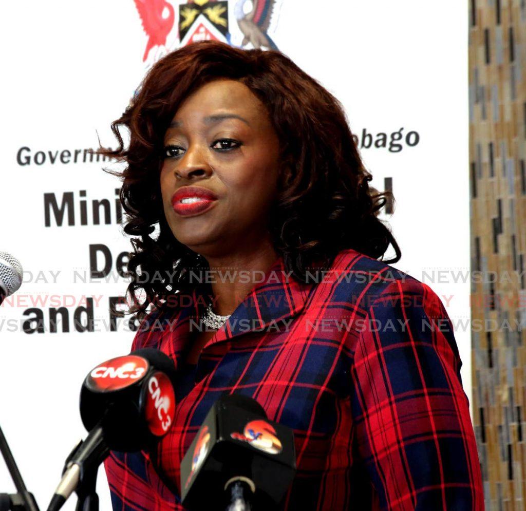 Social Development Minister Donna Cox - SUREASH CHOLAI