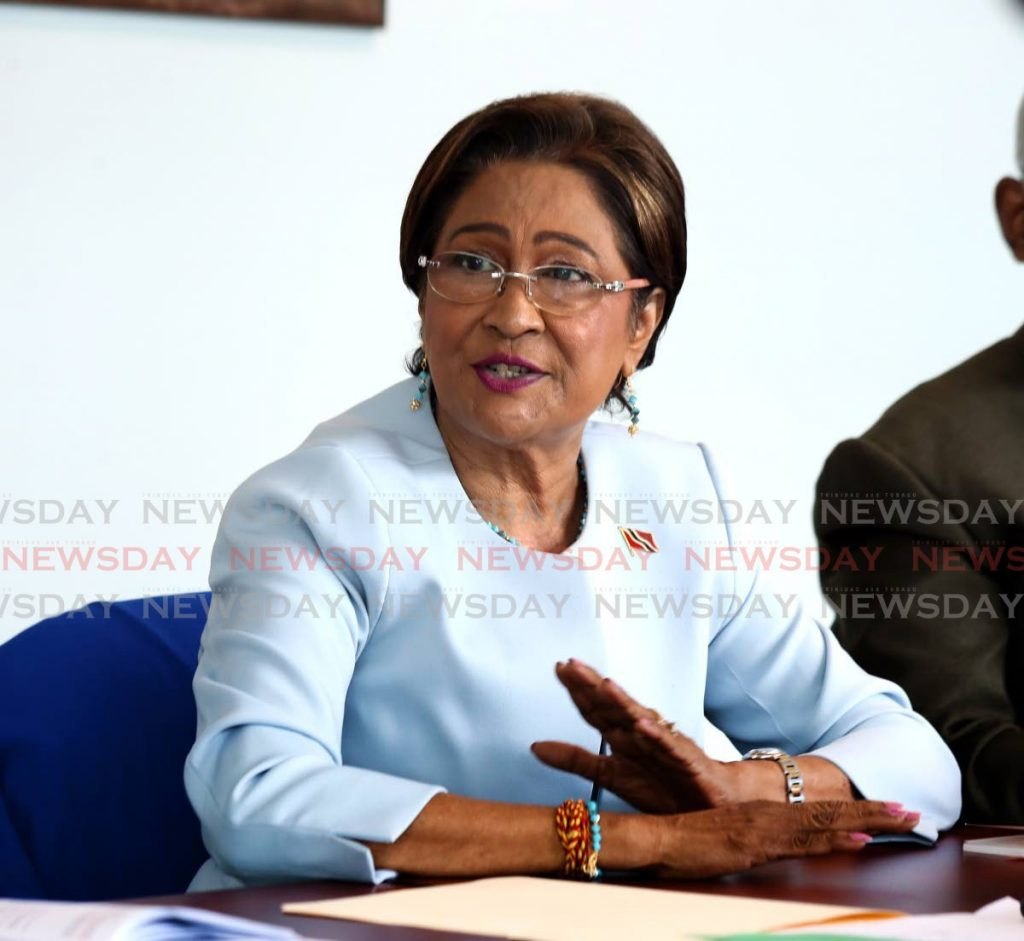 Opposition Leader Kamla Persad Bissessar - Photo by Sureash Cholai